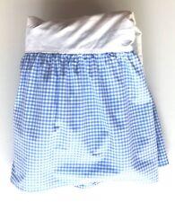 Pottery Barn Kids Blue White Gingham Check Dust Ruffle Crib Bed Skirt Nursery