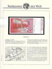 Banknotes of World Switzerland 10 Franken 1986 D P-53f.3 UNC sign 56