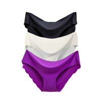 Lot 3PCS Women's Seamless Ultra Thin Briefs Panties Hipster Underwear Lingerie