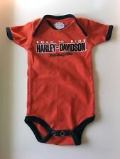 Harley Davidson Motor Cycles Boys short sleeve one piece bodysuit 9-12 months