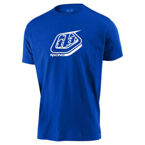 New Troy Lee Designs Racing Shield Tee, TLD T-Shirt, Blue and White, XXL, 2XL
