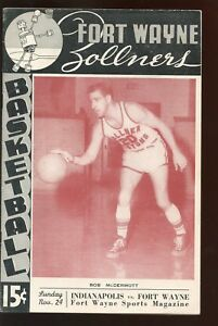 November 24 1946 NBL Basketball Program Indiana vs Fort Wayne EX