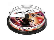 1x10 EMTEC CD-R Discs 700MB 80min 52x Cakebox ECOC801052CB NEU (world*) 005-818