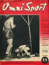 Omni Sport n°17 - 1946 - Boxe Joe Louis Billy Conn - Indianapolis - Wimbledon