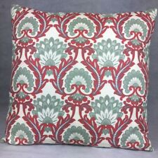 Handmade LEILA RED 100% Cotton Cushion Cover.Various sizes