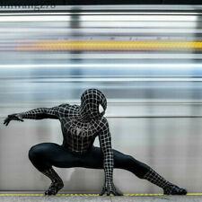 Black Spider-Man 3 Venom Cosplay Costume Jumpsuit Kids Spiderman Zentai Bodysuit