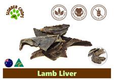 3kg LAMB LIVER NATURAL HIGH OMEGA 3 GRASS FEED LAMB GRAIN FREE DOG TREAT