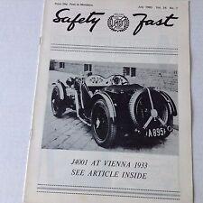 Safety Fast MG Car Club Magazine J4001 At Vienna July 1980 070217nonrh