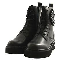 Scarpe stivali alti Cult Who mid boot donna pelle nero gemme