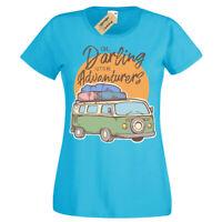 Be Adventurers camper bus T-Shirt Womens Ladies