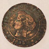 5 Centimes Cérès Bronze 1885A N2