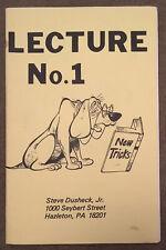 Vintage Steve Dusheck Jr Magic Lecture Notes No. 1