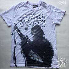 "Men's Cedar Wood State White Star Wars ""The Force Awakens"" Chewbacca T-Shirt  M"