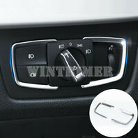 ABS Inner Headlight Switch Cover Trim 3pcs For BMW 7 Series F01 F02 2009-2015