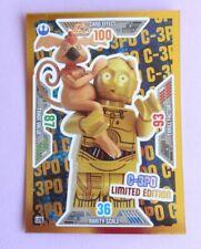 TRADING CARD, Lego STAR WARS, Serie 2: LE 6 C-3PO, Glitzer, NEU 2019