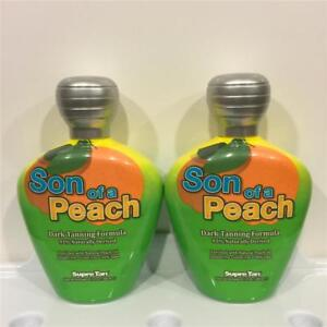 Supre Tan SON OF A PEACH Dark Tanning Oil Indoor Tanning Bed Lotion LOT of 2