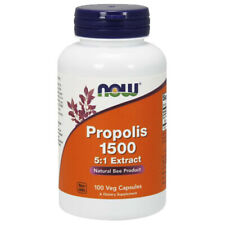 Bee Propolis 1500mg 100 Veg Caps NOW Foods Natural Product