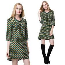 Polyester 3/4 Sleeve Casual Shirt Dresses
