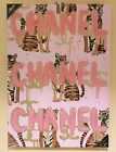 Chanel Oliver Gal Tiger Gold Glitter Embellishment Glam Wall Art Canvas 20 x 28