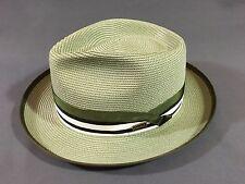 Men's Milan Straw Fedora Green size 7 Medium Small Dobbs Turlock summer hat