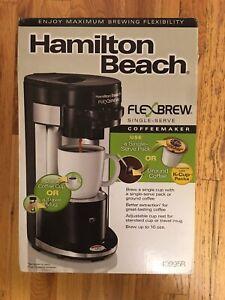 NIB Hamilton Beach FlexBrew 49995R 1 Cup Coffee & Espresso Maker