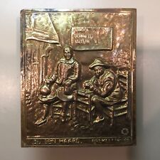 Vintage Wall Dutch Pocket // Brass & Metal // Made In Holland~The Netherlands