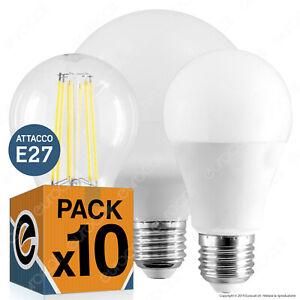 10 LAMPADINE LED E27 da 9W a 20W Lampada Goccia Bulbo Filamento Globo Sfera