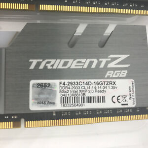 G. SKILL Trident Z RGB 16GB (2x8GB) DDR4 2933 MHz CL14 (F4-2933C14D-16GTZRX)