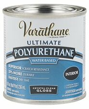 Rust-Oleum Varathane 200061H 1/2-Pint Interior Crystal Clear Water-Based Polyure
