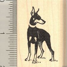 Doberman Pinscher dog rubber stamp F11005 WM