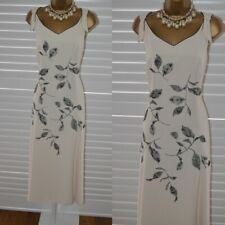 ~ JACQUES VERT ~ Ivory & Black Dress Size 18 Mother of the Bride