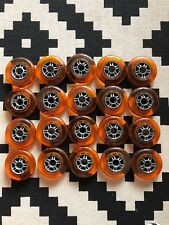 Lot Of Ten Sets (20 Total) Orange REPLACEMENT SCOOTER WHEELS RAZOR No Bearings
