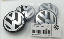 SET OF 4 VW VOLKSWAGEN CHROME CENTER WHEELS HUB CAPS LOGO 56mm (2 ½ inches)