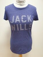 LL611 WOMENS JACK & WILLS PURPLE CREW NECK S/SLEEVE T SHIRT UK M 10 EU 38