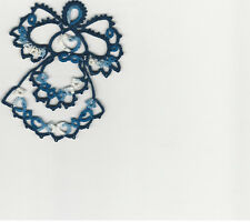 Tatting Tatted Angel varigated dark blue size 10 thread