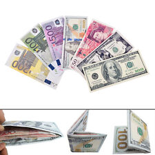 Chic Unisex Mens Womens Currency Notes Patterns Pound Dollars Euro Purse Wallets
