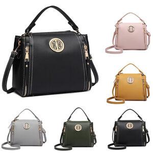 Ladies Designer PU leather Handbag Zipper Girls Shoulder Crossbody Bag Satchel