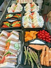 Pack of 7 Catering Trays - 5 Sandwich Platters 2 Dip Platters, Buffet Platters