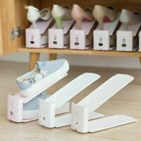 Double-Layer Shoe Slots Rack Space Saver Organizer Storage Holder~