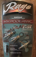 "Rage Hypodermic 2 Blade 100 Grain 2"" Cut Broadhead 3-Pack #R39100 Rage Dealer"