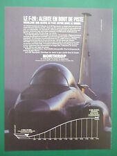 4/1984 PUB NORTHROP F-20 TIGERSHARK US AIR FORCE USAF FIGHTER ORIGINAL FRENCH AD