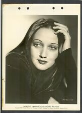 EXQUISITE EARLY DOROTHY LAMOUR PORTRAIT - 1938 EXC COND DBLWT KEY BOOK