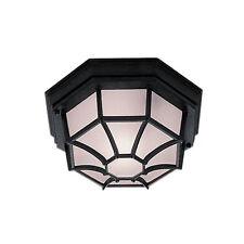 Searchlight 2942bk Black Cast Aluminium Hexagonal Outdoor Ceiling Light IP54