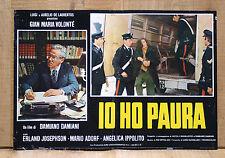 IO HO PAURA fotobusta poster Mario Adorf Roma Damiano Damiani Carabiniere CA50