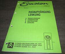 Werkstatthandbuch Citroen Evasion Radaufhängung Lenkung Lenkung Achse 11/1994