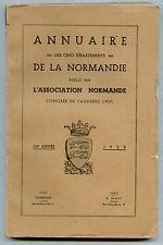 Annuaire de la Normandie par l'Association Normande Congrès de Caudebec, 1937
