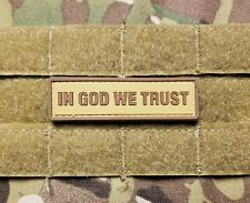 """In God We Trust 1x3"""" Coyote Tan Brown Pvc Christian Tactical Hook Morale Patch"""