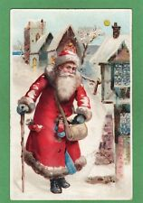Santa Claus Father Christmas HTL Hold to Light pc used Ref L119