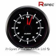WATERPROOF Prosport 52mm Stepper Motor White LED Analogue Time Clock Gauge 12v