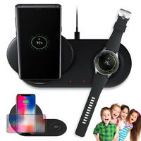 2 in 1 Fast Charging Wireless Charger Pad For Samsung Phone